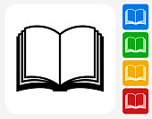 Book Icon Flat Graphic Design