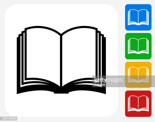 buch-symbol flache grafik design - buch stock-grafiken, -clipart, -cartoons und -symbole