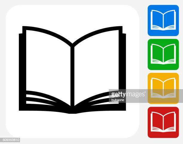 Livro ícone Flat Design gráfico
