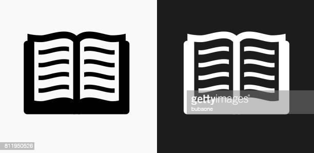 Buchsymbol auf schwarz-weiß-Vektor-Hintergründe
