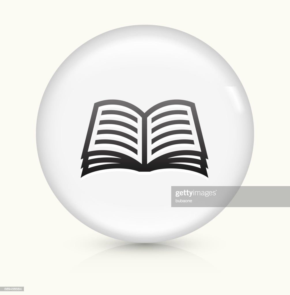 Book icon on white round vector button