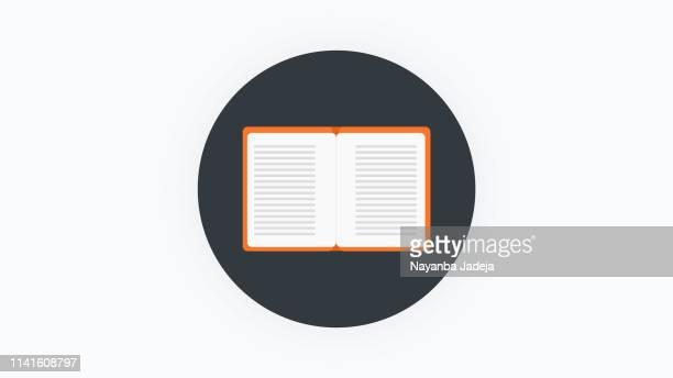 ilustrações, clipart, desenhos animados e ícones de ícone do livro - livro de capa dura