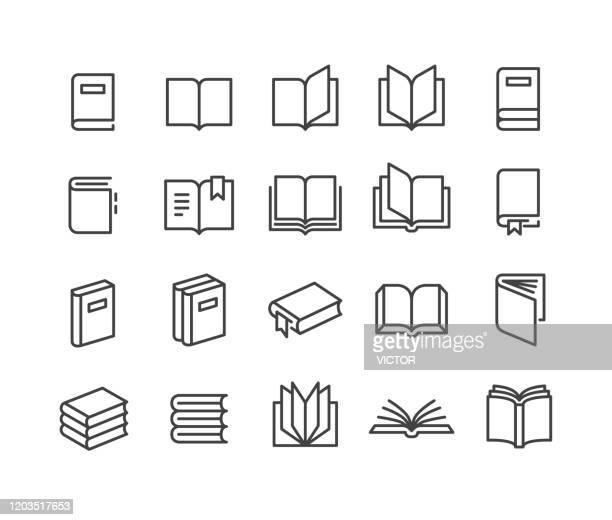 bildbanksillustrationer, clip art samt tecknat material och ikoner med boka ikoner - classic line series - litteratur