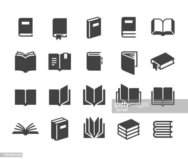 book icons - classic series - books stock illustrations