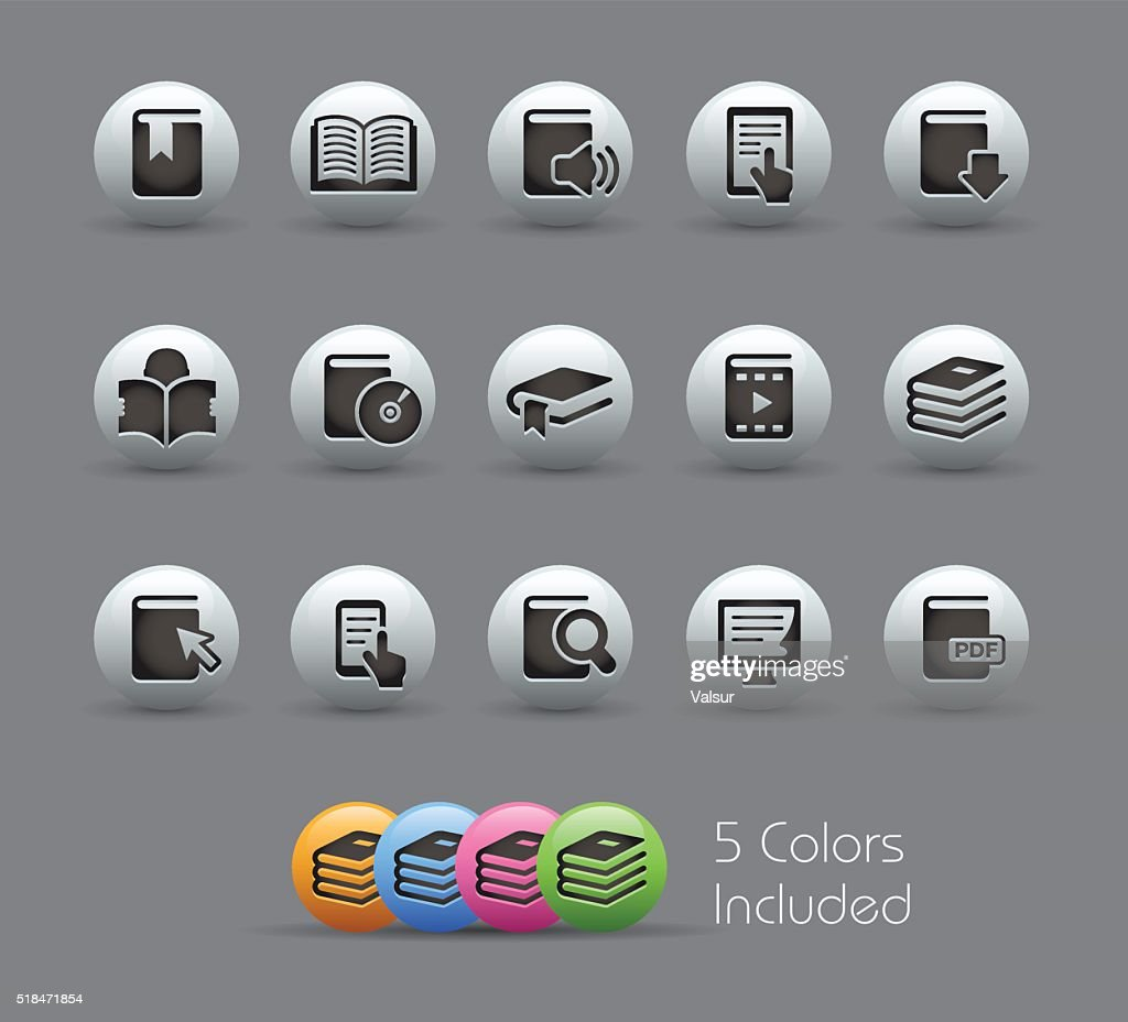 Book Icons - Pearly Series