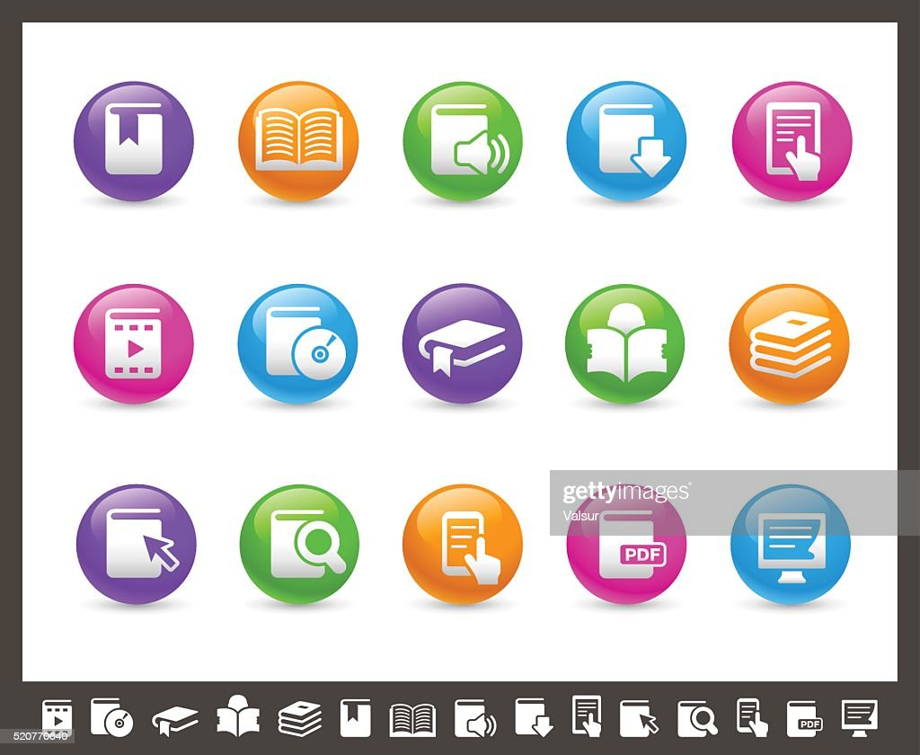 Book Icons - Rainbow Series
