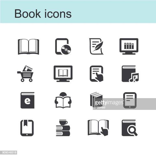 book icons - reading stock illustrations