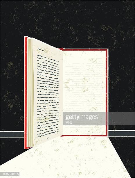 Livro na forma de uma porta aberta