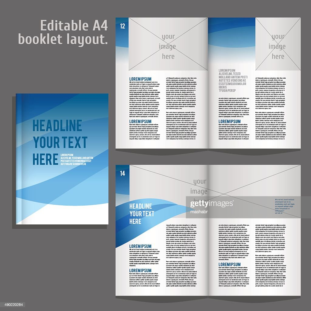 a4 book layout design template vector art getty images