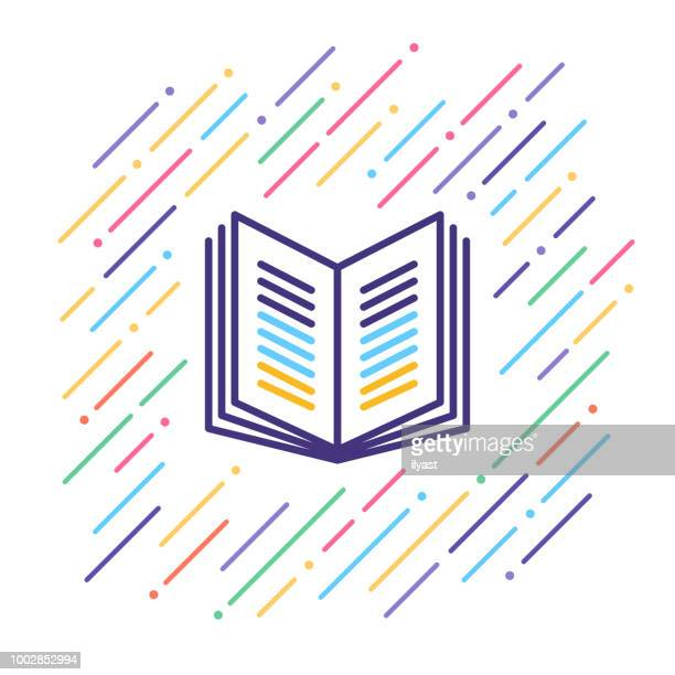 book line icon - library stock illustrations
