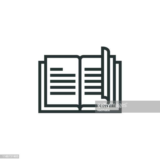 book line icon - catalogue stock illustrations