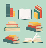 book of Stacks in flat design collection