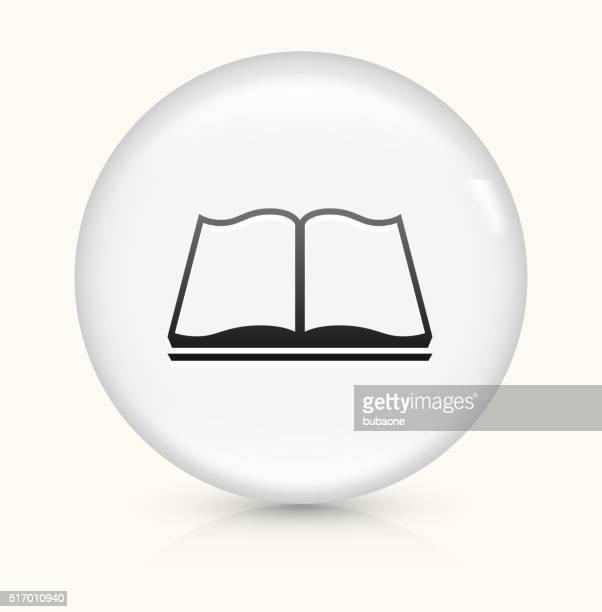 ilustrações, clipart, desenhos animados e ícones de livro de leitura de ícone em branco vetorial redondo botão - bíblia