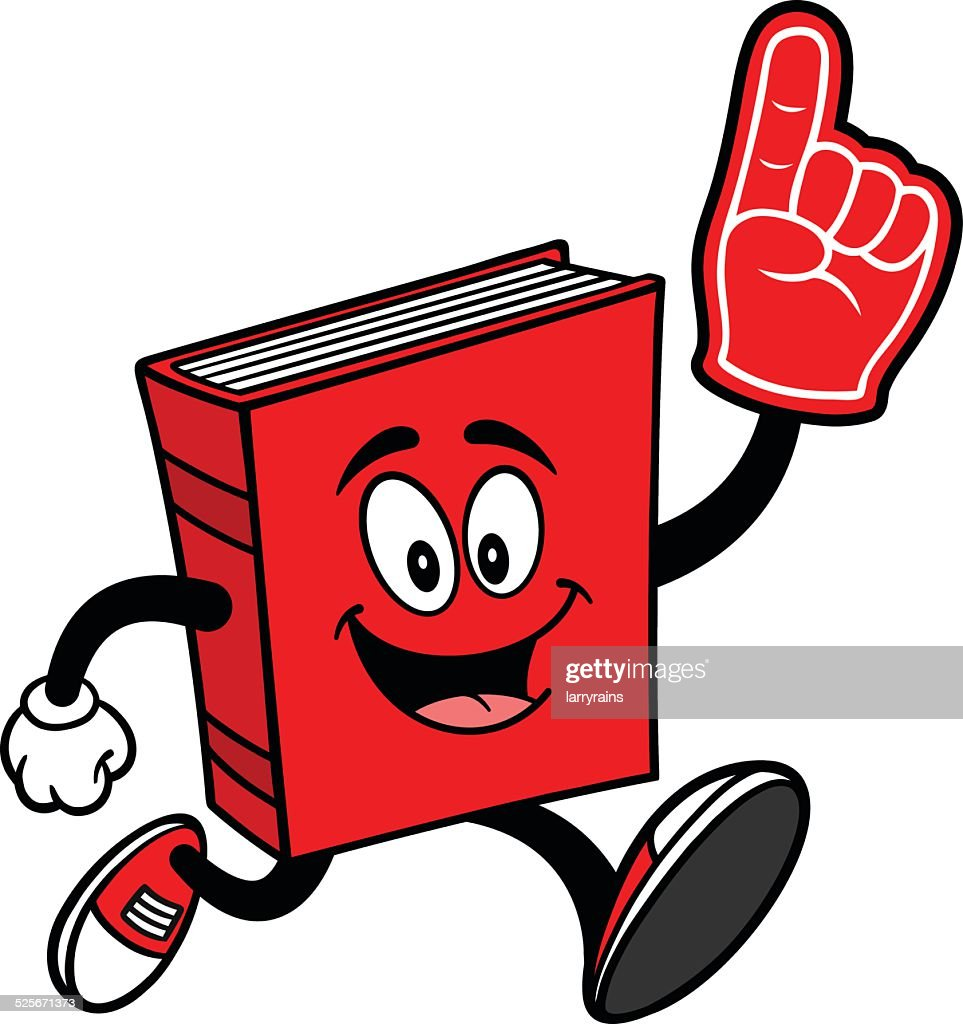 Book Running with Foam Finger