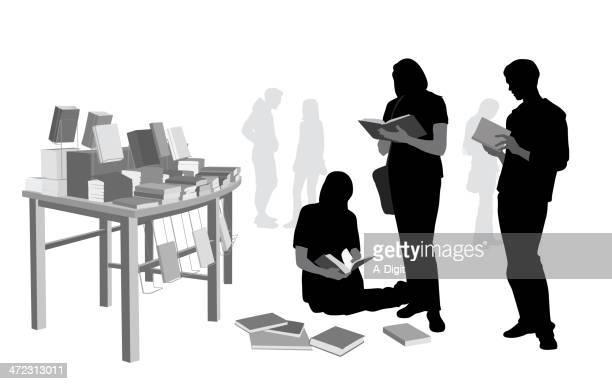 ilustrações, clipart, desenhos animados e ícones de booksales - livraria
