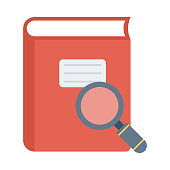 book search Flat Vector Icons