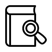book search Thin Line Vector Icon