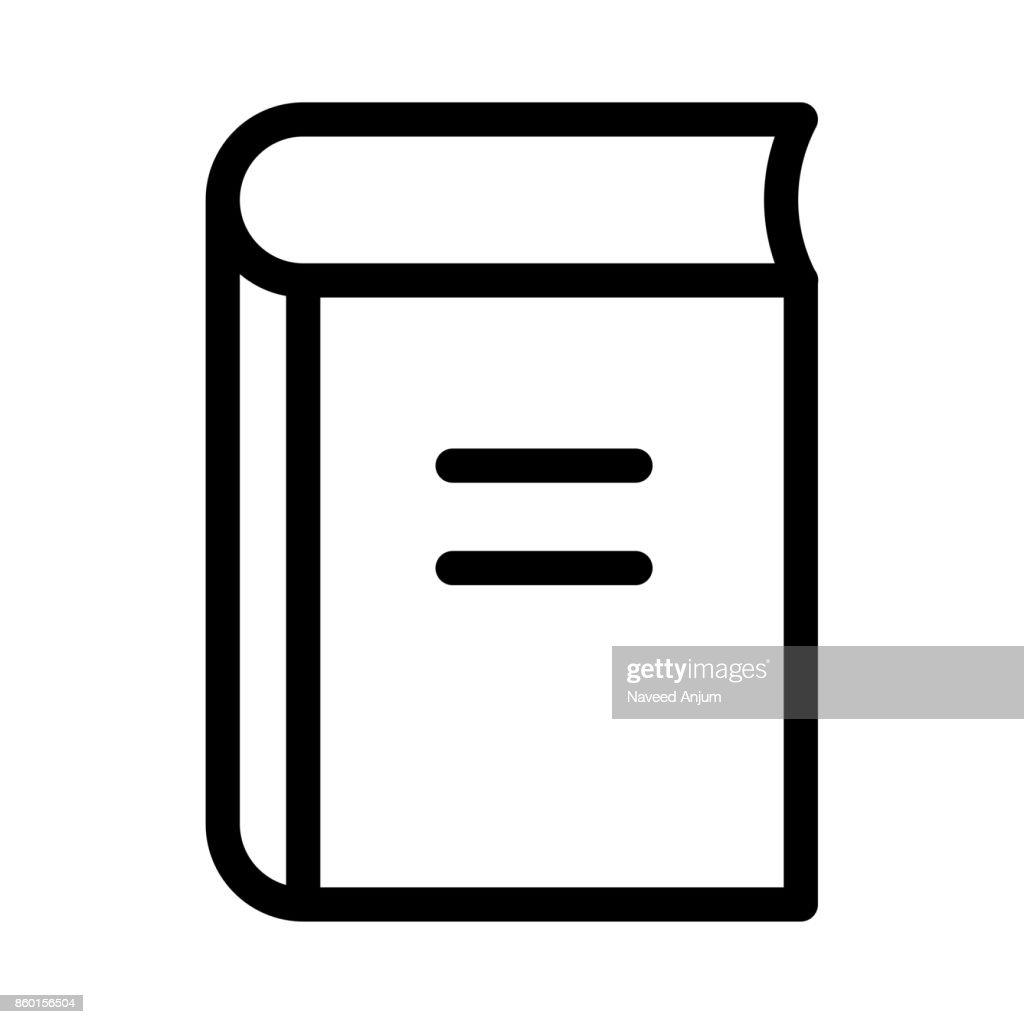 book Thin Line Vector Icon