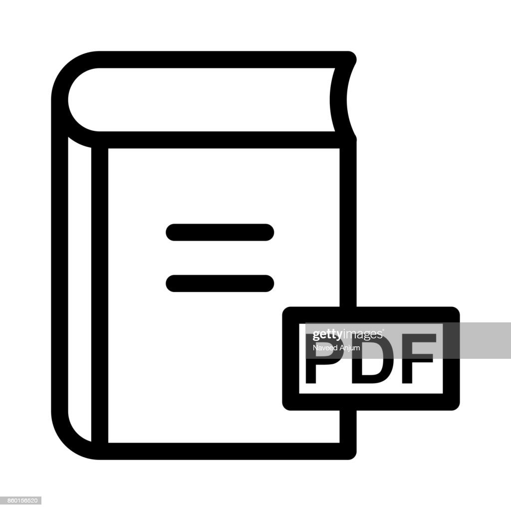 PDF book Thin Line Vector Icon