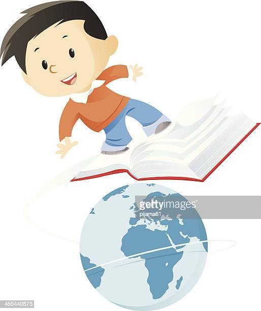ilustraciones, imágenes clip art, dibujos animados e iconos de stock de reserve - libros volando