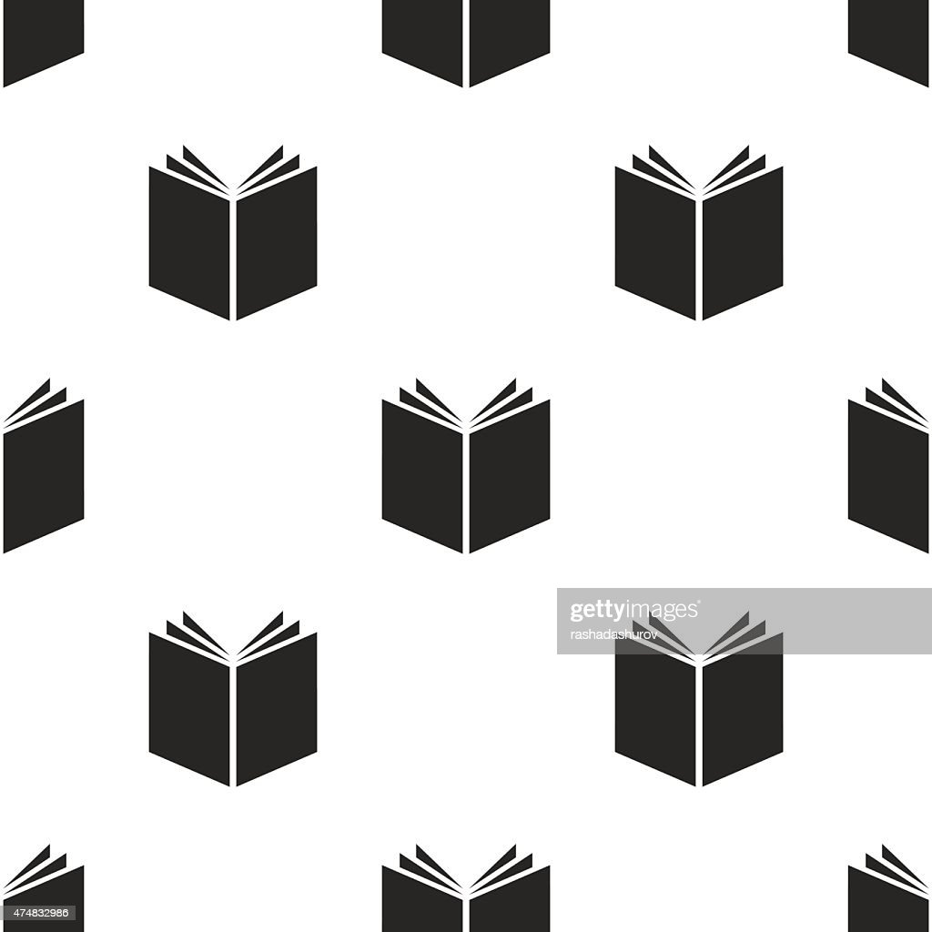 book, vector seamless pattern