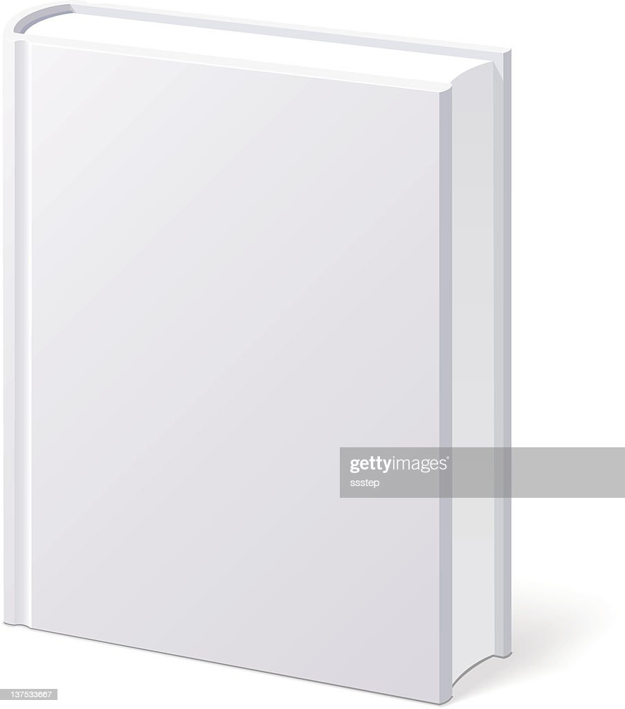 Book White Blank Isolated