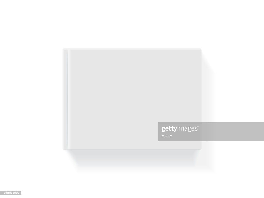 Book with a hardcover on a white background
