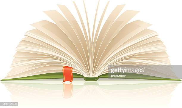 book with bookmark - bookmark stock illustrations, clip art, cartoons, & icons