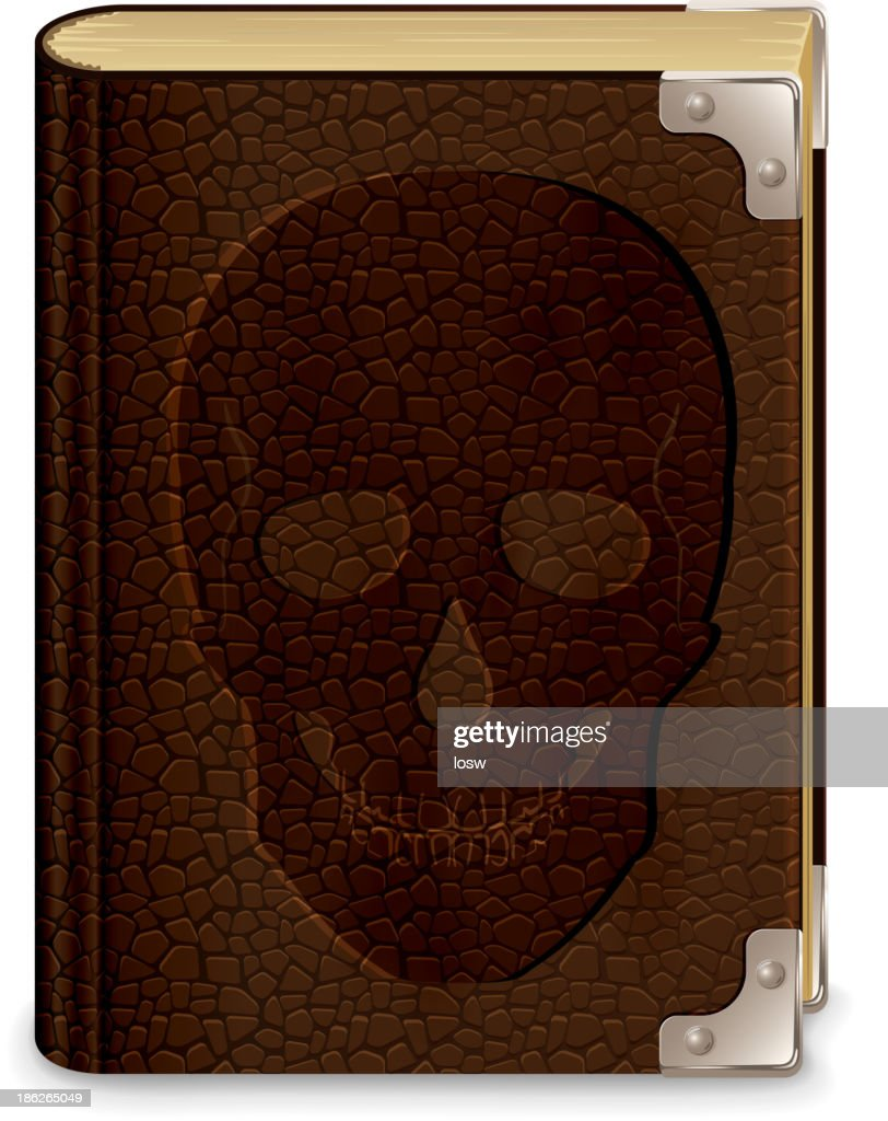 Book with skull