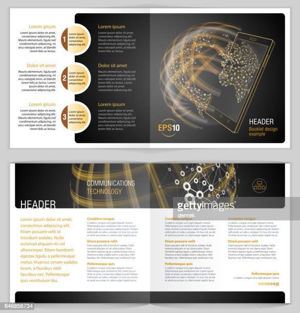 Exemple de livret de conception. Communications mondiales.