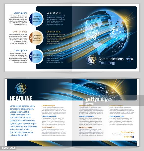 Booklet design example. Global communications.