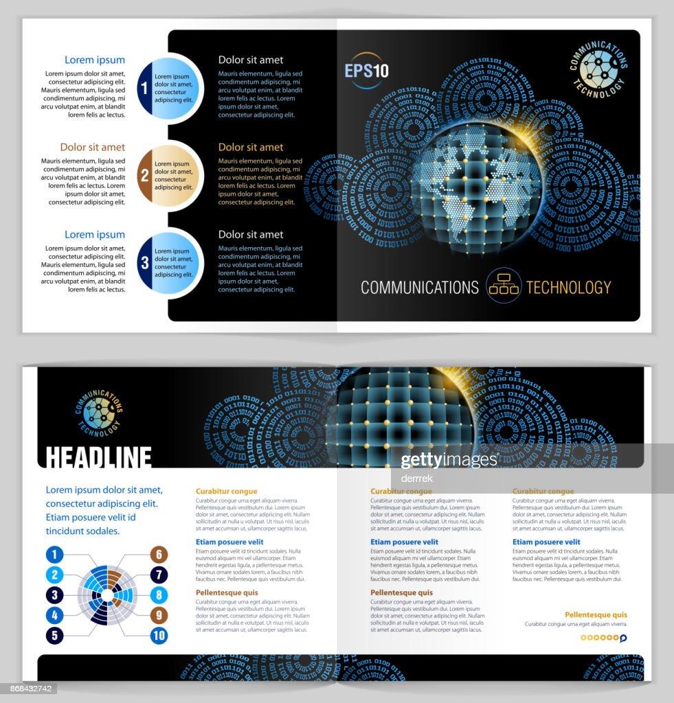 小冊子デザイン例グローバル コミュニケーション ベクトルアート getty