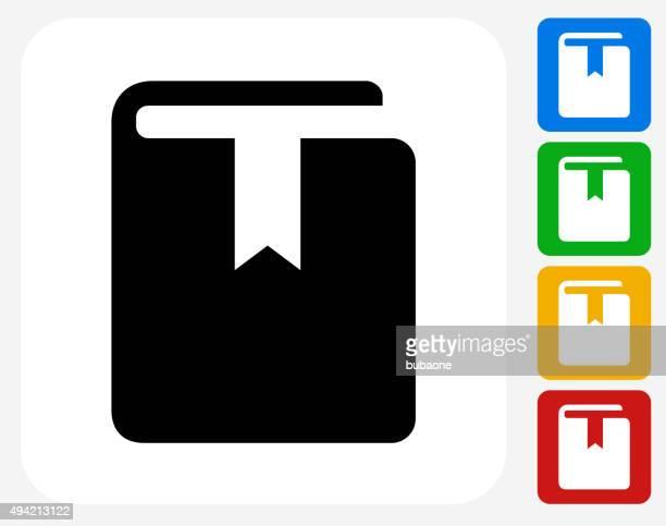 bookmark icon flat graphic design - bookmark stock illustrations, clip art, cartoons, & icons