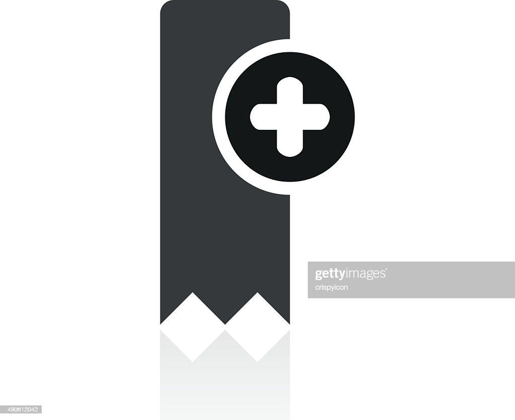 Bookmark icon on a white background. - PrimeSeries