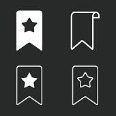 Bookmark icon set.
