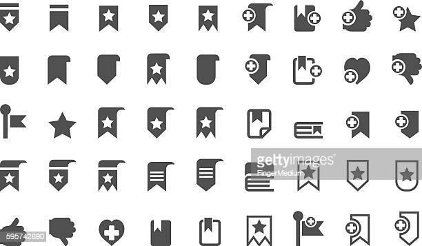 bookmark icons - encyclopaedia stock illustrations, clip art, cartoons, & icons