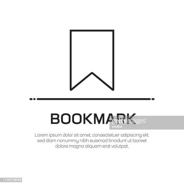 ブックマークベクトル線アイコン-シンプルな細線アイコン、プレミアム品質のデザイン要素 - 辞書点のイラスト素材/クリップアート素材/マンガ素材/アイコン素材