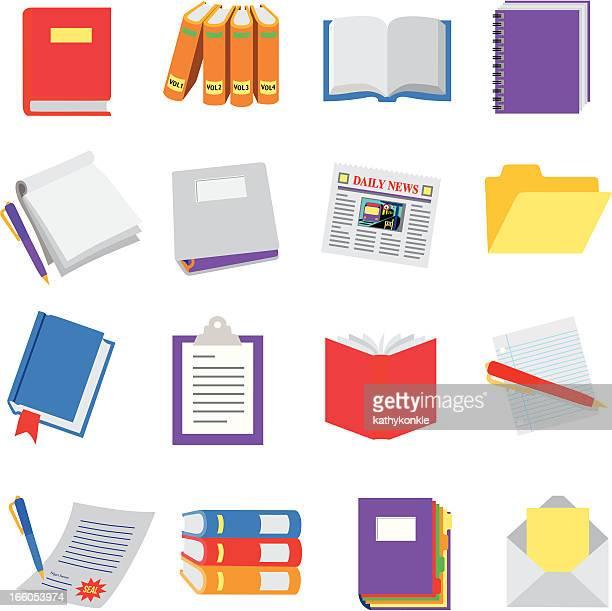 書籍、文書 - リング式ファイル点のイラスト素材/クリップアート素材/マンガ素材/アイコン素材