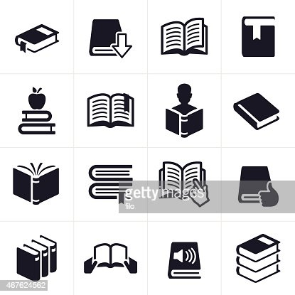 books and education learning icons and symbols vector art
