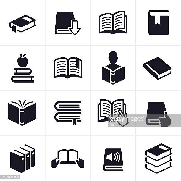 books and education learning icons and symbols - book stock illustrations