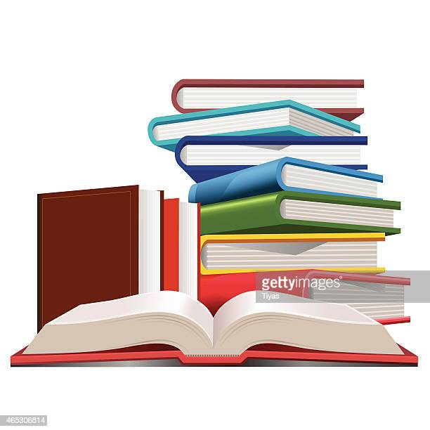 ilustrações, clipart, desenhos animados e ícones de coleção de livros - biblioteca