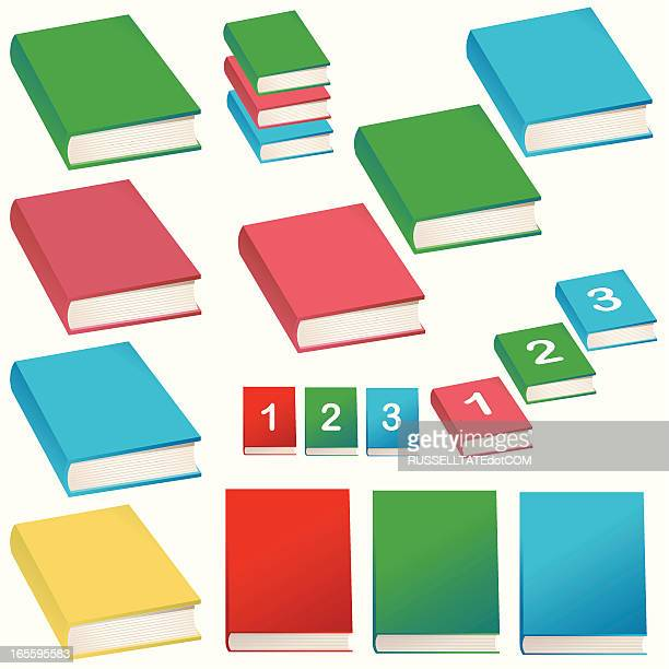 books = easy as one,two,three - closed stock illustrations, clip art, cartoons, & icons