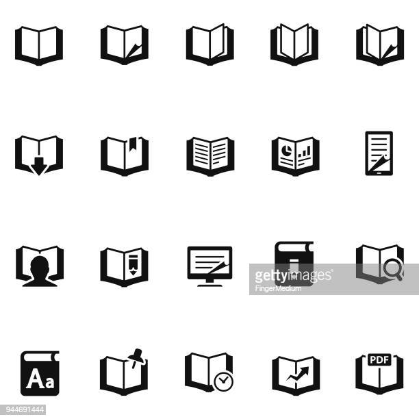 books icon set - publisher stock illustrations
