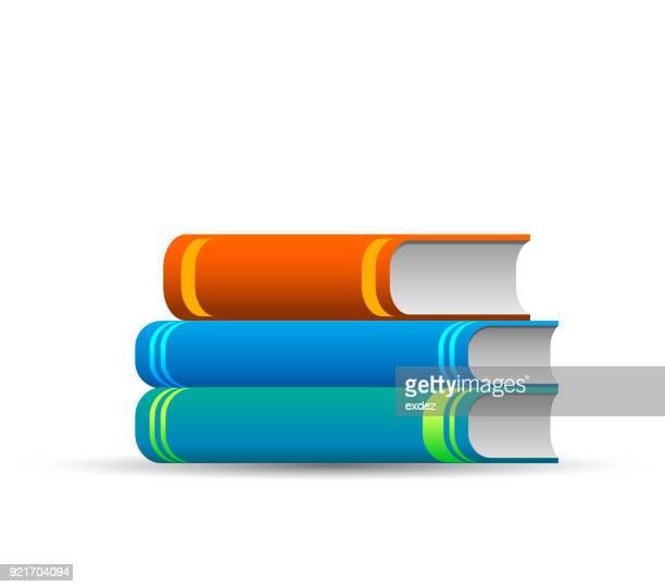 ilustrações, clipart, desenhos animados e ícones de ícone de livros - livraria