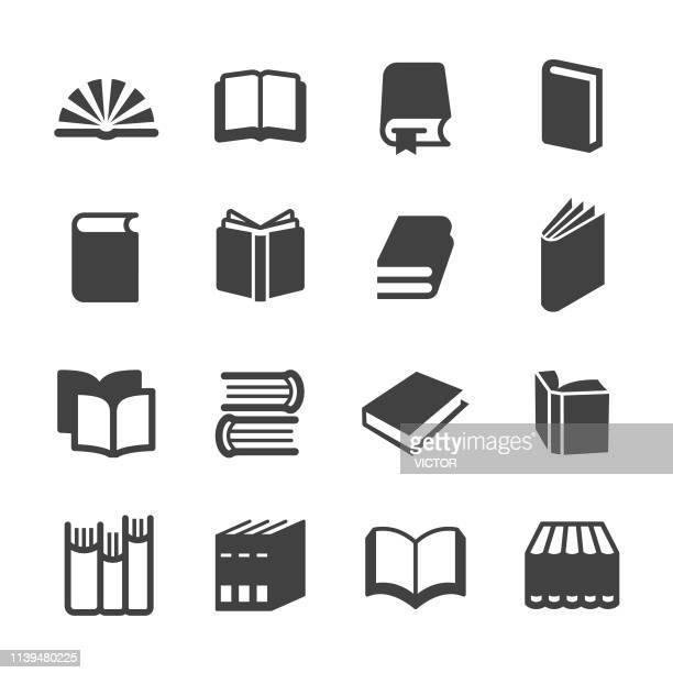ilustrações, clipart, desenhos animados e ícones de ícones dos livros-série do acme - livro de capa dura