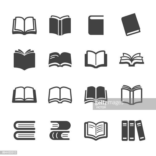 stockillustraties, clipart, cartoons en iconen met icons - acme serie boeken - boek
