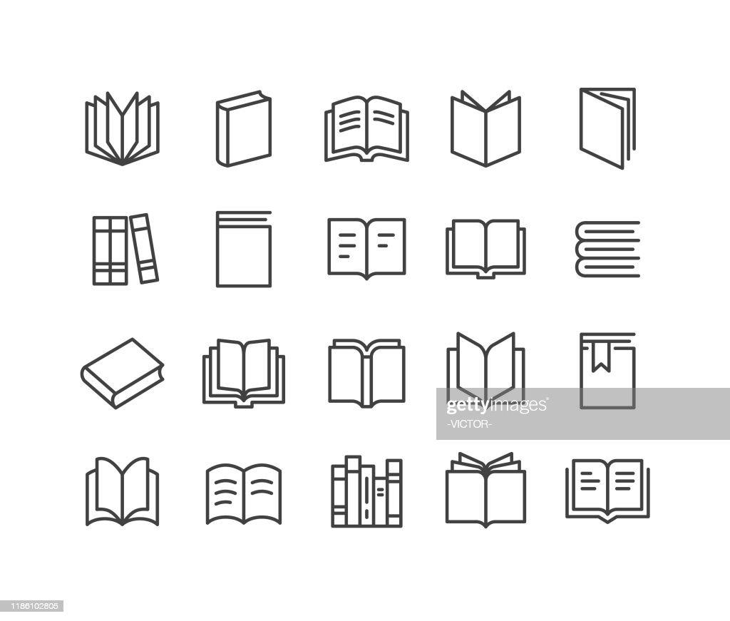 ブックアイコン - クラシックラインシリーズ : ストックイラストレーション
