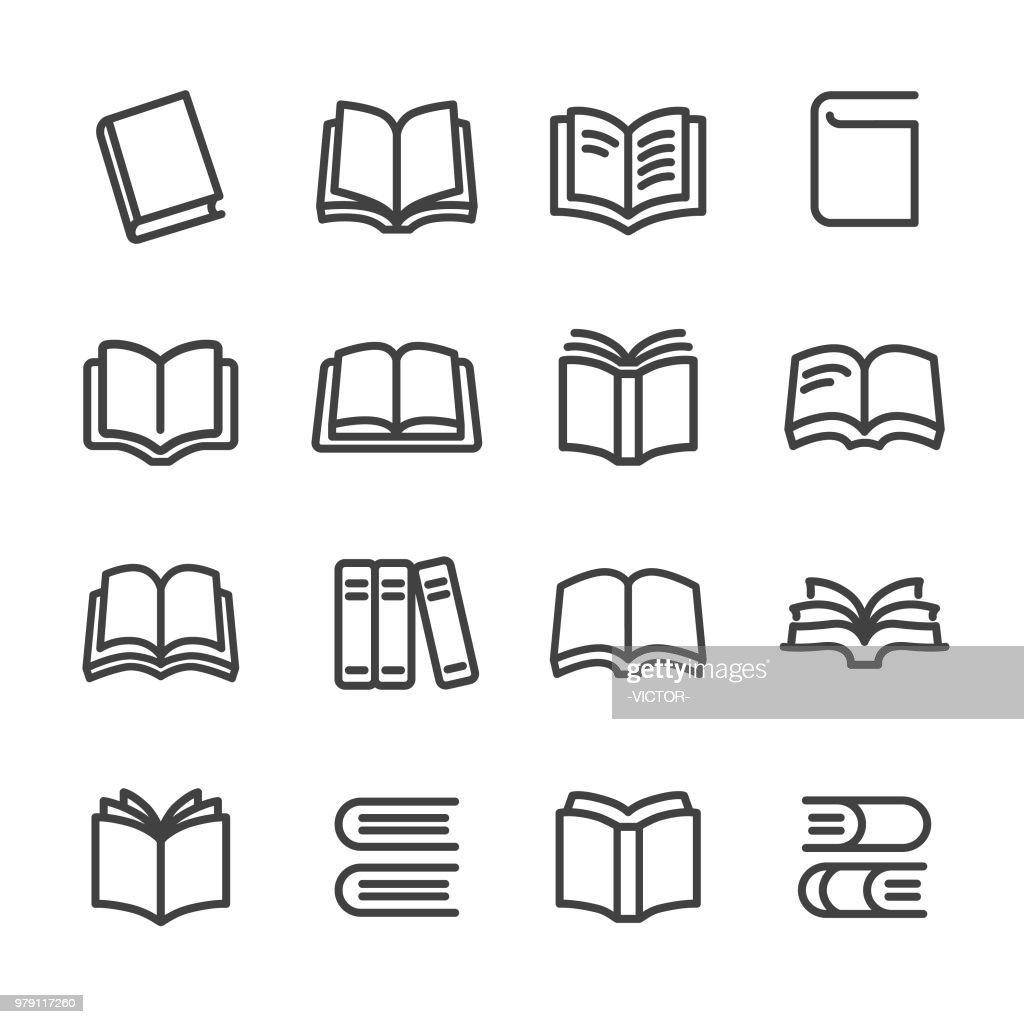 Ícones - linha da série de livros : Ilustração