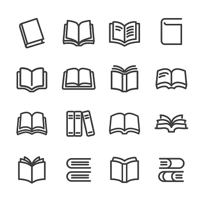 Books Icons - Line Series - gettyimageskorea