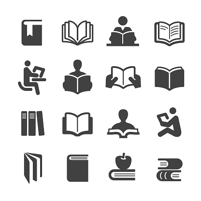 Books Icons Set - Acme Series - gettyimageskorea